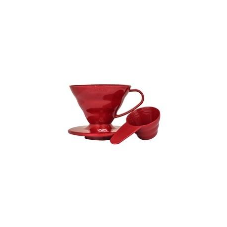 Hario plastikowy Drip V60-02 Czerwony