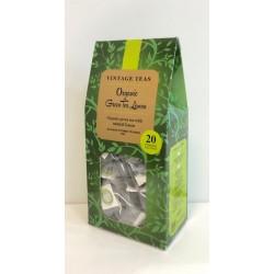 VINTAGE TEAS ORGANIC GREEN TEA LEMON - 20 PIRAMIDEK