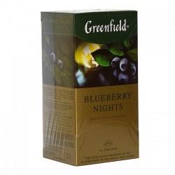 Herbata Greenfield Blueberry Nights 25x1,5g - czarna o smaku borówkowym