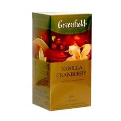 Herbata Greenfield Vanilla Cranberry 25x1,5g - czarna o smaku żurawinowo-waniliowym