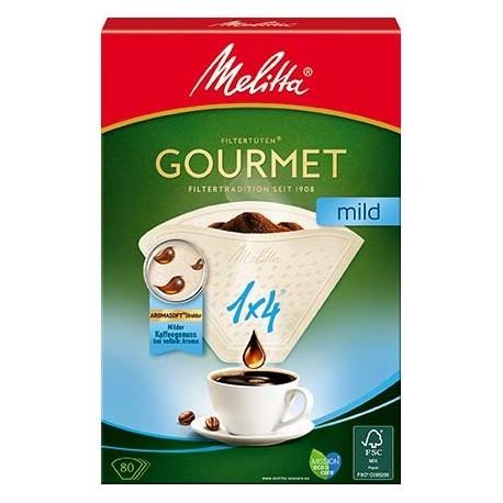 Filtry papierowe Melitta 1X4/80 GOURMET MILD